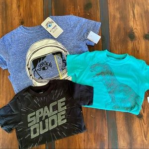 3T Bundle Carter's Graphic Tee's & SMALL Wonder